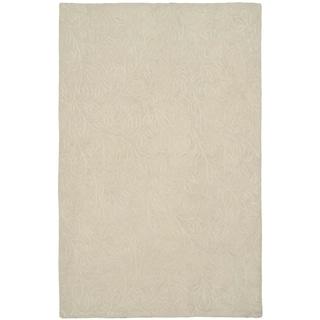 Martha Stewart Sprig Snowberry Cotton Rug (9' 6 x 13' 6)