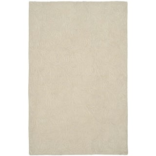 Martha Stewart Sprig Snowberry Cotton Rug (7' 9 x 9' 9)