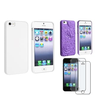 BasAcc 2 Case Set/ Anti-glare LCD Protector for Apple iPhone 5