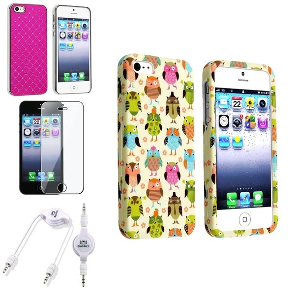 INSTEN Case Covers/ Protector/ Audio Cable for Apple iPhone 5/ 5S