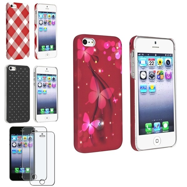 BasAcc Cases/ Anti-glare Screen Protector for Apple iPhone 5