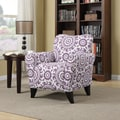 Portfolio Seth Amethyst Purple Medallion Curved Back Arm Chair