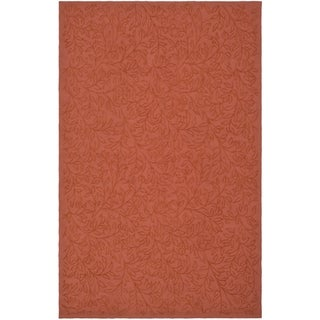 Martha Stewart Navigation Pink/ Sand Cotton Rug (5' 6 x 8' 6)