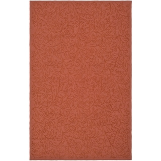 Martha Stewart Navigation Pink/ Sand Cotton Rug (7' 9 x 9' 9)