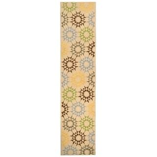 Martha Stewart Quilt Cream Cotton Rug (2' 3 x 10')