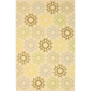 Martha Stewart Quilt Cream Cotton Rug (7' 9 x 9' 9)