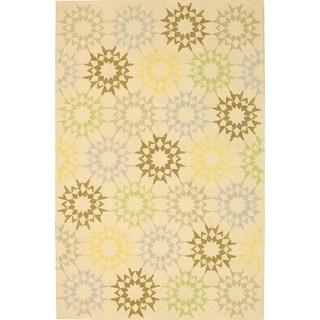 Martha Stewart Quilt Cream Cotton Rug (7' 9 x 9' 9)