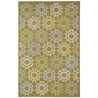 Martha Stewart Quilt Pebble/ Grey Cotton Rug (9' 6 x 13' 6)
