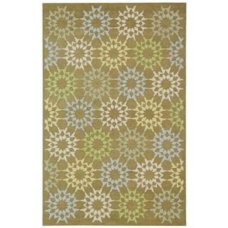 Martha Stewart Quilt Pebble/ Grey Cotton Rug (7' 9 x 9' 9)
