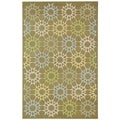 Martha Stewart Quilt Pebble/ Grey Cotton Rug (7' 9 x 9' 9)