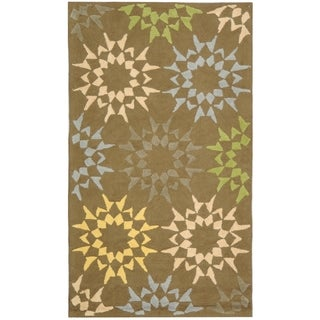 Martha Stewart Quilt Opal/ Grey Cotton Rug (2' 6 x 4' 3)