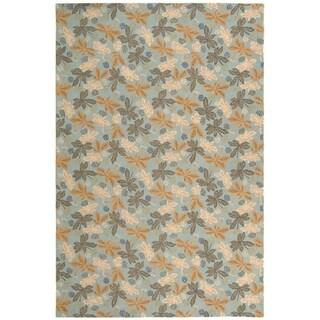 Martha Stewart Ombre Gradient Blue Wool Rug 8 X 10