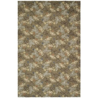 Martha Stewart Meadow Grey Wool Rug (8' 6 x 11' 6)