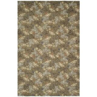 Martha Stewart Meadow Grey Wool Rug (8' 6 x 11' 6)