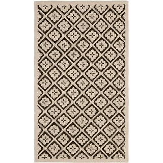 Martha Stewart Blossom Lattice Natural Twine Wool Rug (2' 6 x 4' 3)