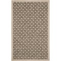Martha Stewart Blossom Lattice Natural Twine Wool Rug (5' 6 x 8' 6)