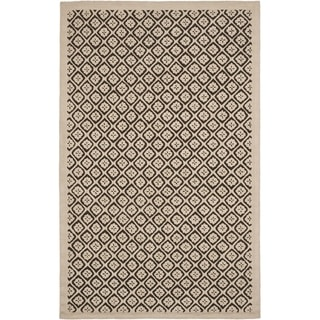 Martha Stewart Blossom Lattice Natural Twine Wool Rug (7' 9 x 9' 9)