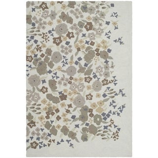 Martha Stewart Watercolor Garden Cloud Wool Rug (5'6 x 8'6)