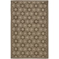 Martha Stewart Puzzle Molasses Brown Wool Rug (5'6 x 8'6)
