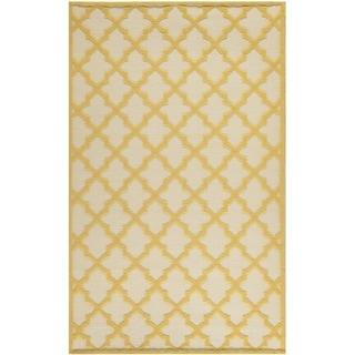 Martha Stewart Vermont Ivory/ Gold Wool Rug (4' x 6')