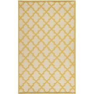 Martha Stewart Vermont Ivory/ Gold Wool Rug (5' x 8')