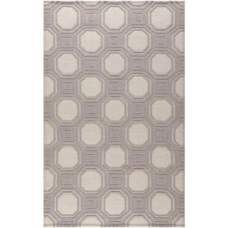Martha Stewart Vermont Ivory/ Purple Wool Rug (8' x 10')