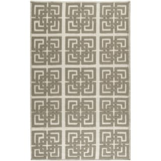 Martha Stewart Vermont Ivory/ Brown Wool Rug (8' x 10')