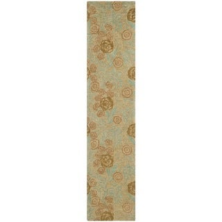 Martha Stewart Arcadia Woodland Green Wool Rug (2'3 x 10')