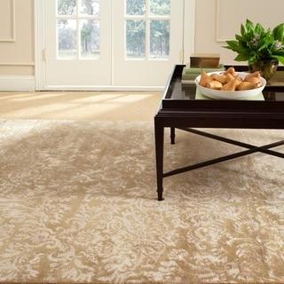 Martha Stewart Damask Honeycomb Wool/ Viscose Rug (9' 6 x 13' 6)