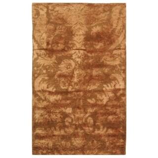Martha Stewart Damask Mahogany Wool/ Viscose Rug (2' 6 x 4' 3)