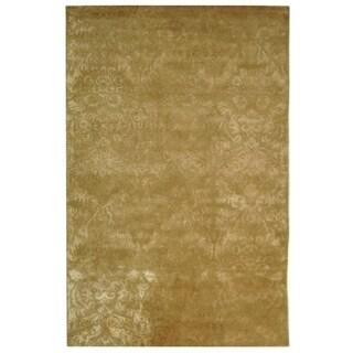 Martha Stewart Damask Mahogany Wool/ Viscose Rug (8' 6 x 11' 6)