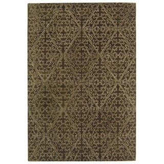 Martha Stewart Strolling Garden Coffee/ Brown Wool/ Viscose Rug (9' 6 x 13' 6)