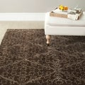 Martha Stewart Strolling Garden Coffee/ Brown Wool/ Viscose Rug (8&#39; 6 x 11&#39; 6)