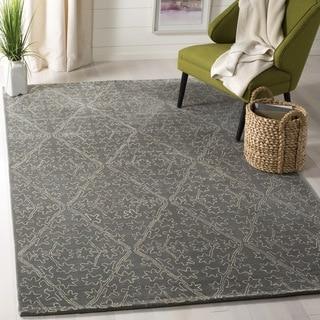 Martha Stewart Strolling Rock Garden/ Grey Wool/ Viscose Rug (2' 6 x 4' 3)