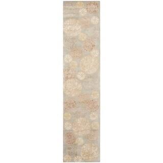 Martha Stewart Parasols Herbal Garden Wool/ Viscose Rug (2' 3 x 10')