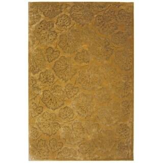 Martha Stewart Geranium Leaf Toffee Wool/ Viscose Rug (8' 6 x 11' 6)