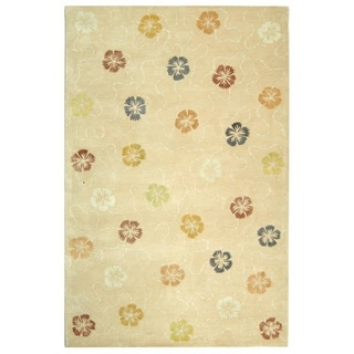 Martha Stewart Garland Blush/ Beige Wool/ Viscose Rug (9' 6 x 13' 6)