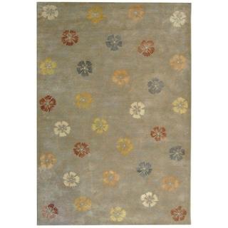 Martha Stewart Garland Pearl/ Grey Wool/ Viscose Rug (7' 9 x 9' 9)
