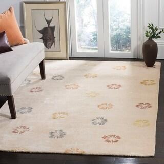Martha Stewart Garland Mocha Wool/ Viscose Rug (3' 9 x 5' 9)