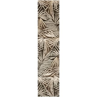 Martha Stewart Palms Coconut/ Brown Wool/ Viscose Rug (2' 3 x 10')