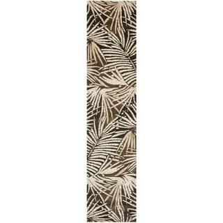 Martha Stewart Palms Coconut/ Brown Wool/ Viscose Rug (2' 3 x 10')