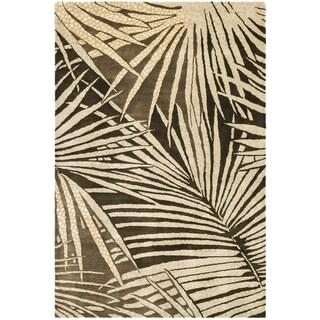 Martha Stewart Palms Coconut/ Brown Wool/ Viscose Rug (3' 9 x 5' 9)