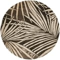 Martha Stewart Palms Coconut/ Brown Wool/ Viscose Rug (6' Round)