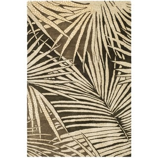 Martha Stewart Palms Coconut/ Brown Wool/ Viscose Rug (7' 9 x 9' 9)