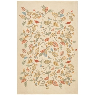 Martha Stewart Autumn Woods Persimmon Red Wool/ Viscose Rug (5' x 8')