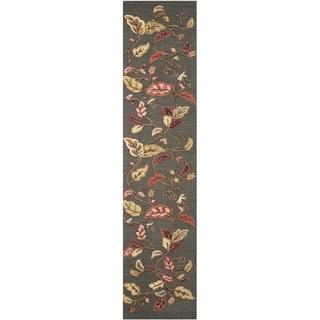 Martha Stewart Autumn Woods Francesca Black Wool/ Viscose Rug (2' 3 x 10')
