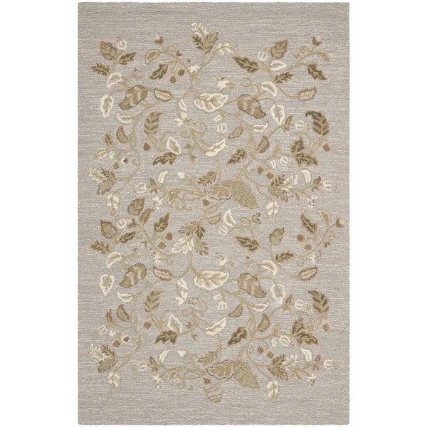 Martha Stewart Autumn Woods Grey Squirrel Wool/ Viscose Rug (9' 6 x 13' 6)