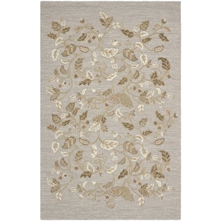 Martha Stewart Autumn Woods Grey Squirrel Wool/ Viscose Rug (4' x 6')
