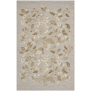 Martha Stewart Autumn Woods Grey Squirrel Wool/ Viscose Rug (5' x 8')
