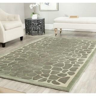 Martha Stewart Arusha Grassland Green Wool/ Viscose Rug (9' 6 x 13' 6)